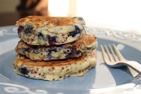 blueberry pancake blueberry quinoa pancakes the workout mama