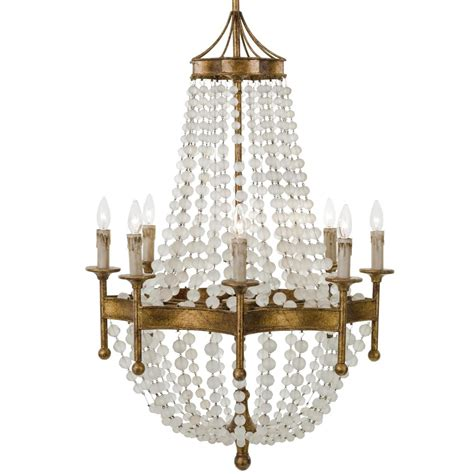 Country Chandelier Country Antique Gold 8 Light