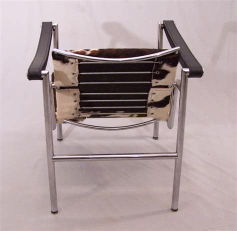 Stainless Steel Chairs For Sale by 8321 Corbusier Basculant Lc1 Chair Stainless Steel With Pony Hide For Sale Antiques