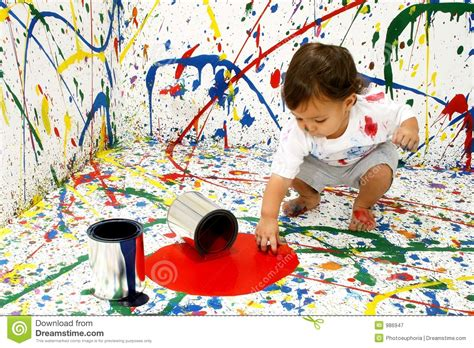 baby painting free paint baby royalty free stock photography image 986947