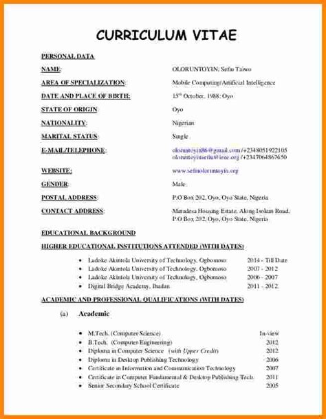 high school curriculum vitae exle resume curriculum vitae template 4 cv format sle