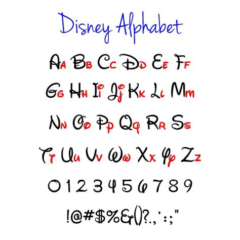 free disney templates 7 disney alphabet letters free psd eps format
