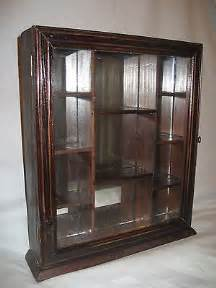 Display Wall Cabinets Glass Door Nib Wood Curio Display Cabinet Glass Door Mirrored Back Wall Mount Tabletop What S It Worth