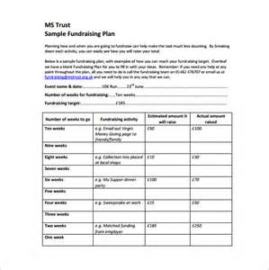 fundraising template fundraising plan template 7 free word pdf documents