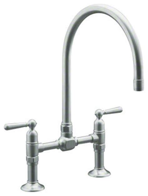 kitchen faucets toronto kohler hirise deck mount bridge kitchen faucet