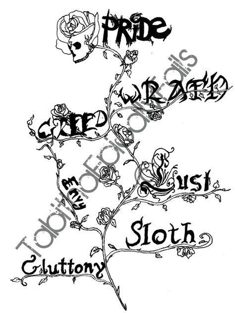 seven deadly sins tattoo by tabithaepicallyfails on deviantart