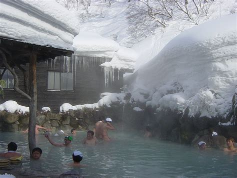 onsen spa winter are there open air hot springs in natural