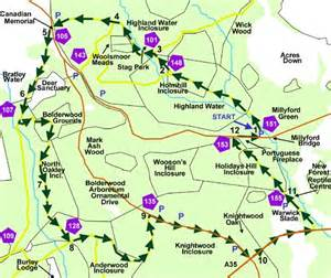 new forest car parks map new forest cycle ride millyford bridge near lyndhurst