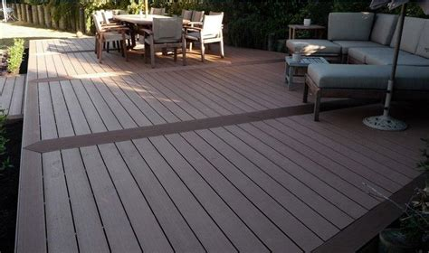 brown composite wood decking board kit     square