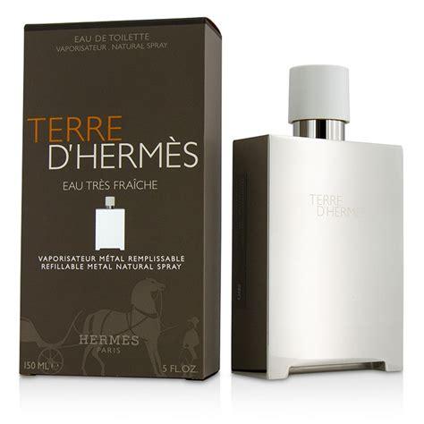 Parfum Terre D Hermes Metal Flacon Parfum 150ml terre d hermes eau tres fraiche edt refillable metal spray by hermes mr fresh