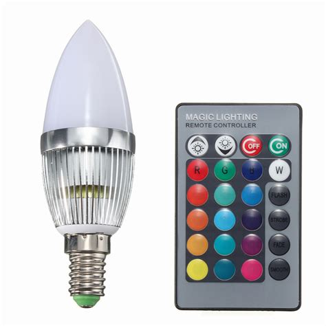 Promo Philips Led Bulb 3w V Quality high quality e14 3w rgb led color changing chandelier candlestick candle light bulb l 85 265v