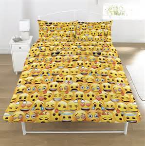 Mickey Mouse Rugs New Emoji Double Duvet Quilt Cover Bedroom Set Boys Girls