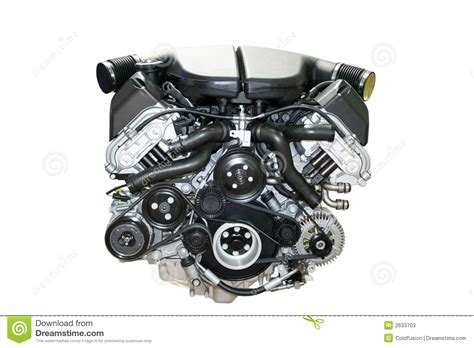 automotive motor car engine isolated stock image image of isolated auto 2633703