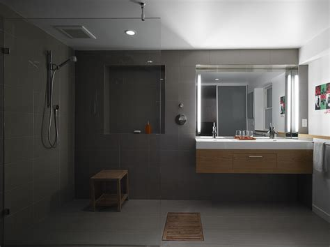 Small Powder Room Vanity - open plan bathroom modern bathroom other metro by at6 architecture design build