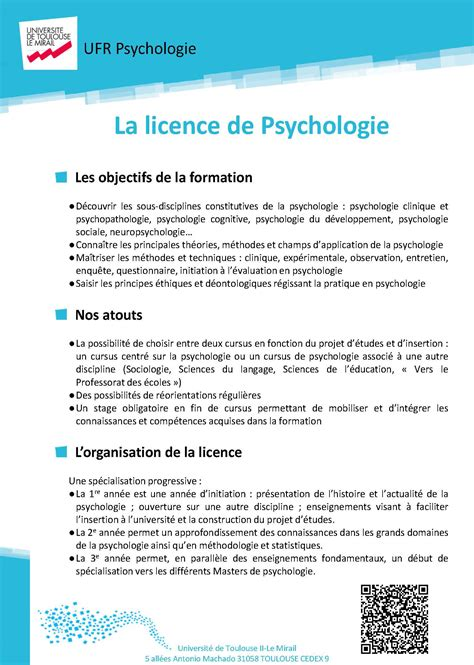 Lettre De Motivation Apb Licence Psychologie Lettre De Motivation Stage L3 Psychologie Document