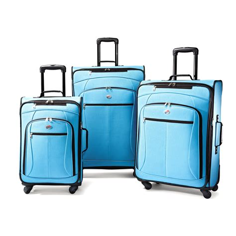 light blue luggage sets upc 049845176334 tourister pop expandable