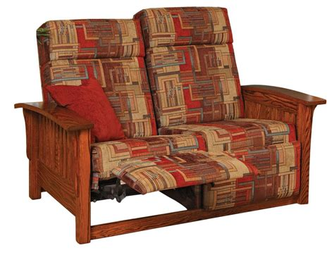 mission loveseat recliner mission double recliner love seat ohio hardwood furniture