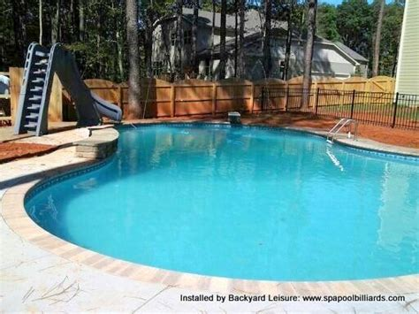 Backyard Leisure Pools Inground Swimming Pool Slide Diving Board Tubs And Pools Installed By Backyard Leisure