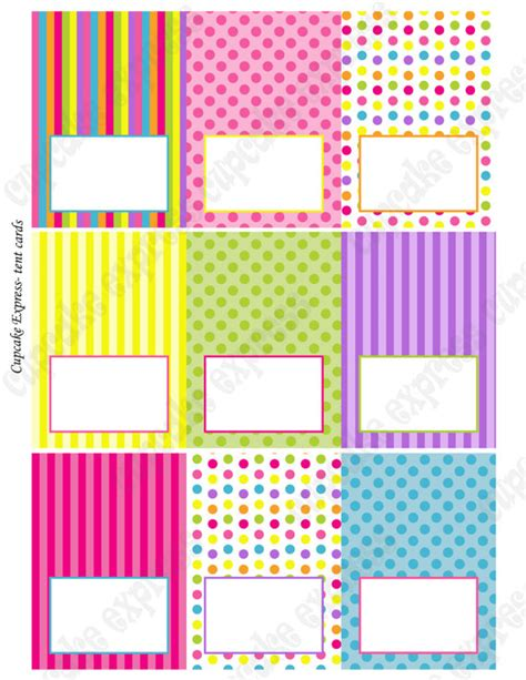 food tent cards template 5 best images of free printable candyland templates