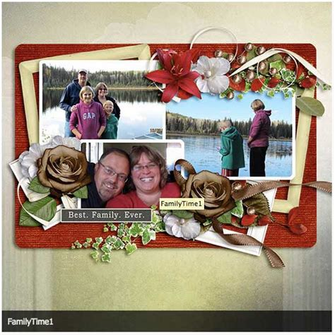 Increasing Your Scrapbooking Speed Part 2 by Family Time Digital Scrapbooking Layout