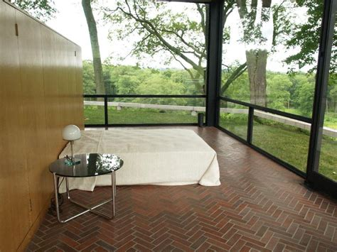 glass house ct new canaan connecticut glass house estate glass house bed area