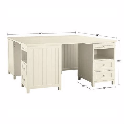 Beadboard Smart Corner Desk Pbteen Girls Bedroom White Beadboard Desk