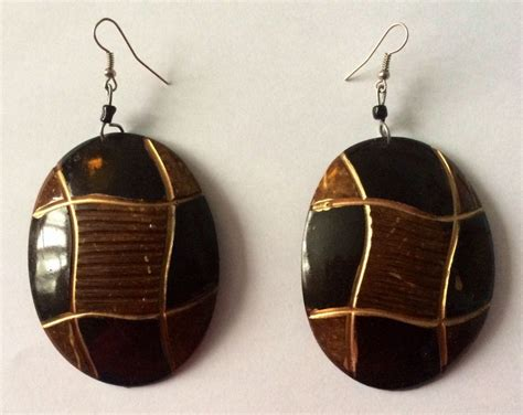 Handmade Wooden Earrings - handmade tribal beautiful wooden hoop earrings