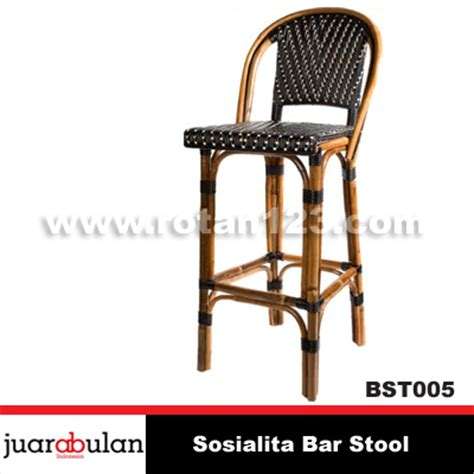 Kursi Cafe Rotan harga jual sosialita bar stool kursi bar rotan alami