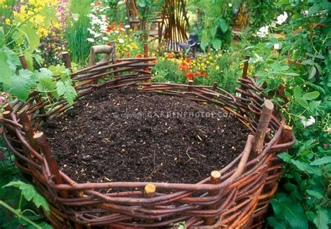 a pretty compost quot bin quot in the garden composting