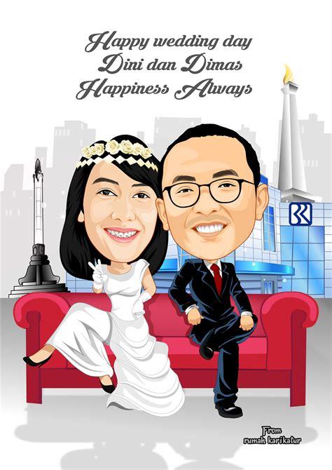 Wedding Karikatur by Karikatur Pernikahan Rumah Karikatur