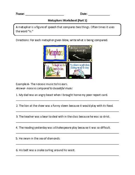 Metaphors Worksheets by Metaphors Worksheets Teaching