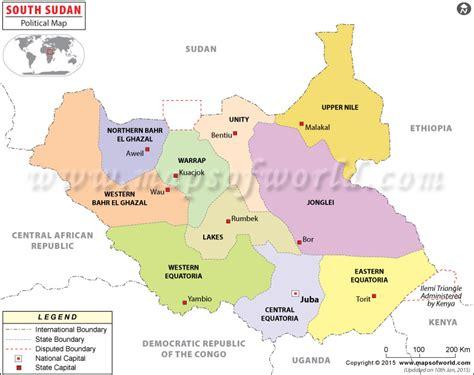 south sudan map political map of south sudan