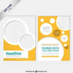 downloadable brochure templates modern brochure template with circles vector free