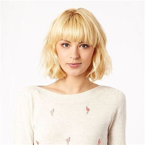 short hair styled with tousling or directed away from the face 25 best ideas about bob fringe on pinterest long bob