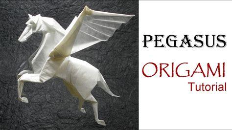 Origami Pegasus - origami pegasus tutorial fumiaki kawahata 折り紙 馬 ペガサス