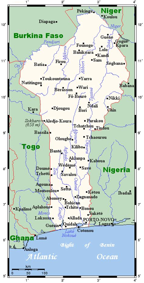 benin on the map all cities of benin on the map all benin cities on the