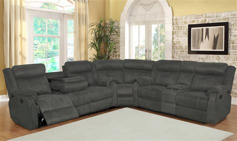 gray reclining sectional unique microfiber sectional sofa with recliner and chaise