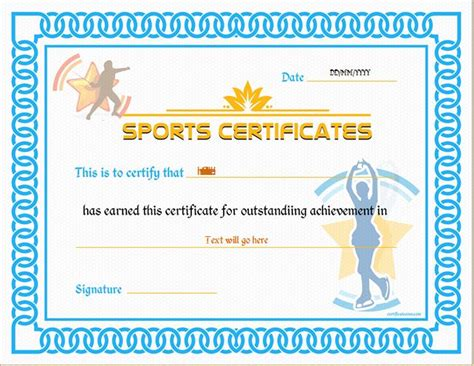 sports certificate templates for ms word professional