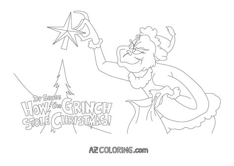 grinch mask coloring coloring pages