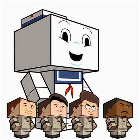 Ghostbusters Papercraft - ghostbusters cubee papercraft papercraft paradise