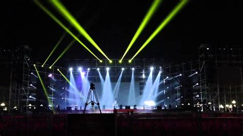 lees sharpy 5r 7r lighting show outdoor youtube
