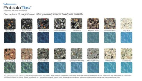 pebble sheen colors pebble tec pool colors pebble tec finishes in my