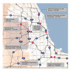 Chicago Tollway Map by Tolls In Chicago Map