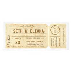 ticket wedding invitations vintage playbill ticket wedding invitation 4 quot x 9 25 quot invitation card zazzle