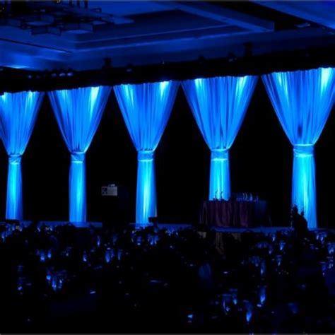 Lights And Draping Bedroom Event Drapes White Drape On Black Drape With Blue