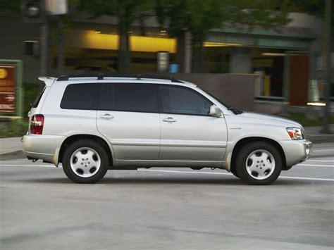 Toyota Highlander Fuel Economy Toyota Highlander Technical Specifications And Fuel Economy