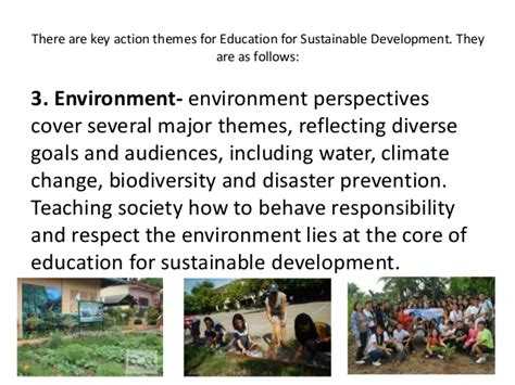 themes of education for sustainable development unesco s role in education for sustainable development