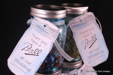 ball mason jar labels for gifts the country chic cottage mason jar wedding favors with free printable tags the