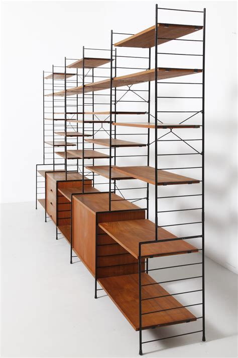 string shelving free standing shelf system string style