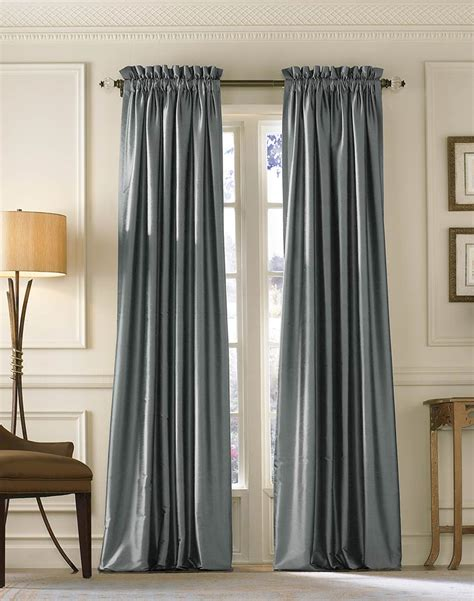 curtain and drapery empress luxe silk solid wide width lined drape